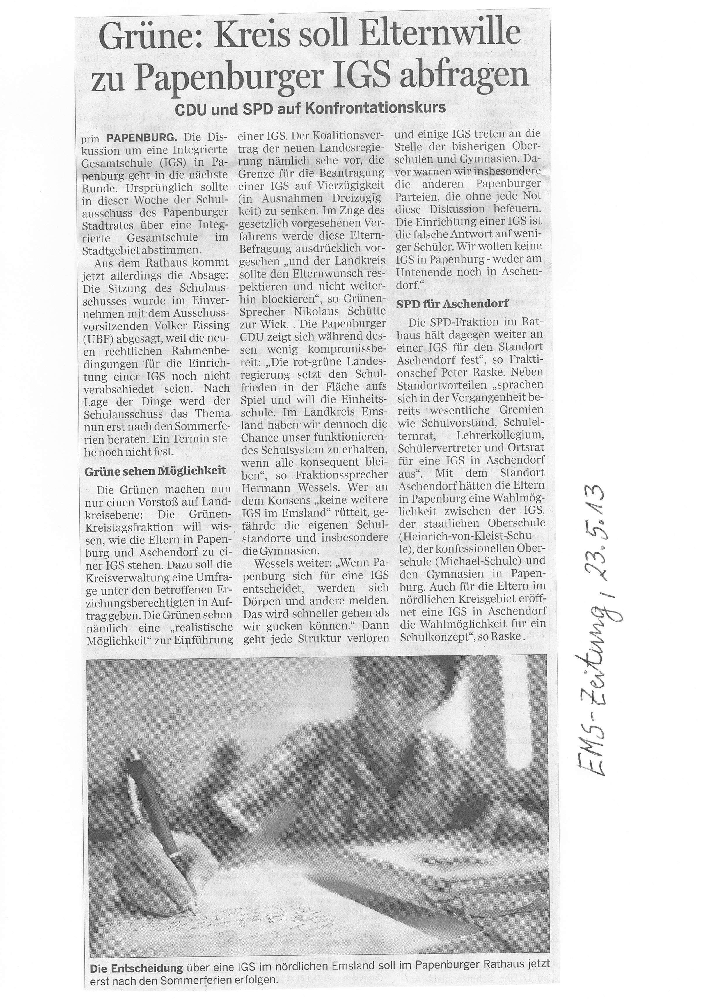 Uwes Zeitungsbericht